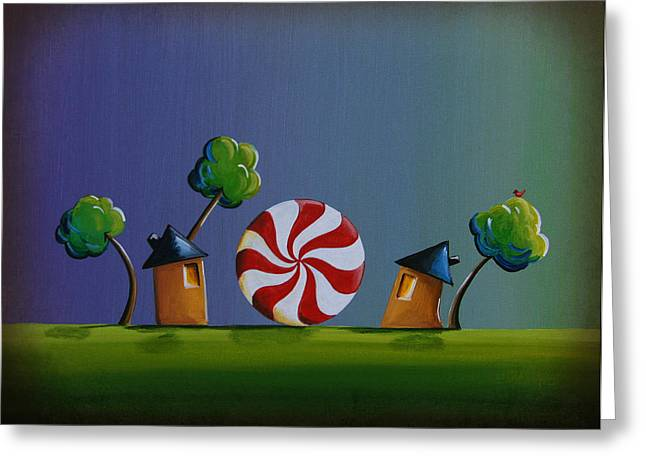 Baby Room Paintings Greeting Cards - Home Sweet Home Greeting Card by Cindy Thornton