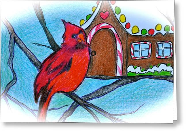 Storybook Drawings Greeting Cards - Home Sweet Home Greeting Card by Debi Starr