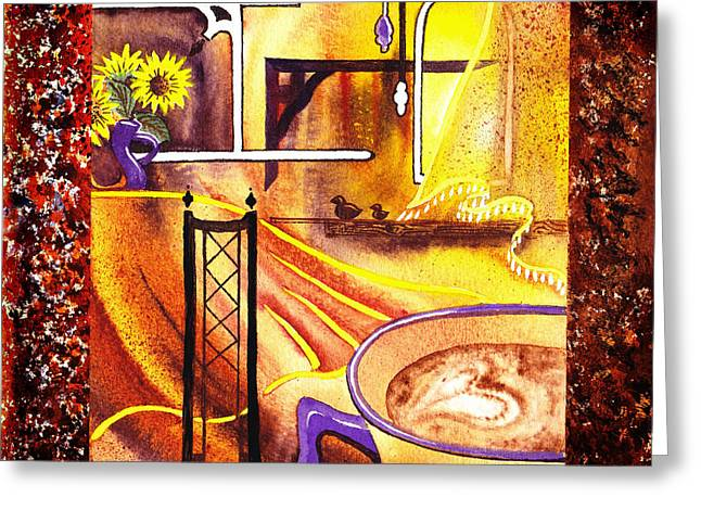 Art For Home Greeting Cards - Home Sweet Home Decorative Design Welcoming One Greeting Card by Irina Sztukowski