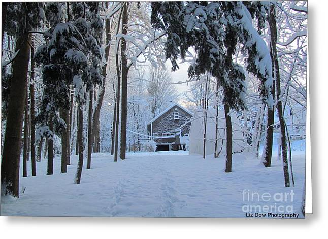 Old Maine Barns Greeting Cards - Home Sweet Home Greeting Card by Elizabeth Dow