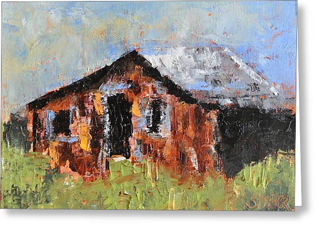 Run Down Paintings Greeting Cards - Home Sweet Home Greeting Card by Kathy Stiber