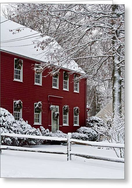 Recently Sold -  - Winter Storm Greeting Cards - Home Sweet Home Greeting Card by Kristine Patti