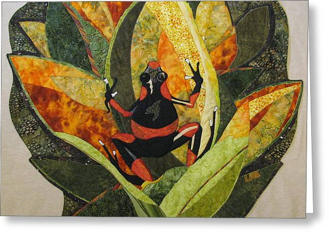 Amphibians Tapestries - Textiles Greeting Cards - Home Sweet Home Greeting Card by Lynda K Boardman