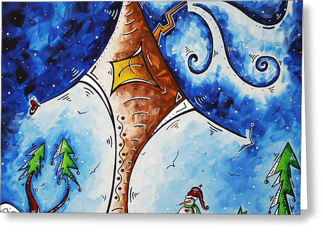 Home Sweet Home Greeting Card by Megan Duncanson