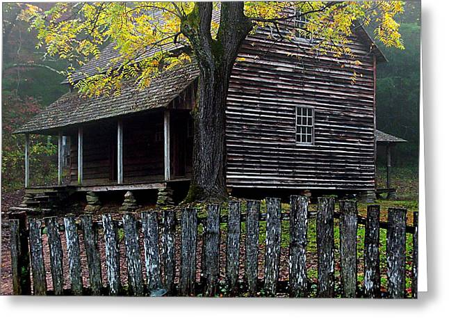 Mountain Cabin Greeting Cards - Home Sweet Home Tennessee Greeting Card by Michael Eingle