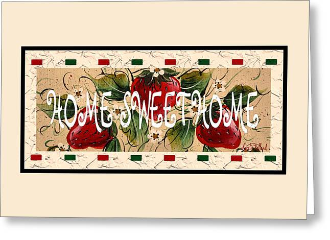 Owner Greeting Cards - Home Sweet Home Greeting Card by Natalie Holland