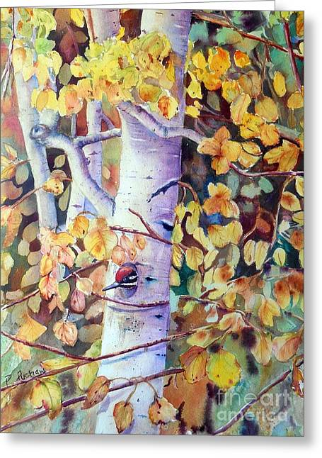 Birch Tree Greeting Cards - Home Sweet Home Greeting Card by Patricia Pushaw