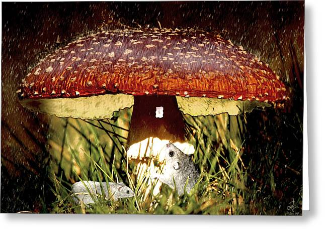 Toadstools Digital Greeting Cards - Home Sweet Home Greeting Card by Pennie  McCracken