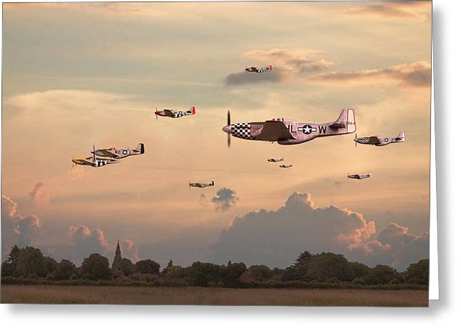 Fighter Aircraft Greeting Cards - Home to Roost Greeting Card by Pat Speirs