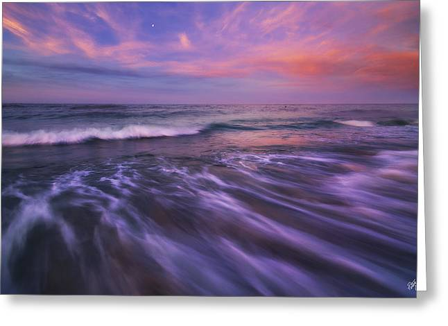 Blue Green Wave Greeting Cards - Homecoming Greeting Card by Peter Coskun