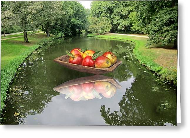 Fruit Tree Art Greeting Cards - Homecomming Greeting Card by Manfred Lutzius