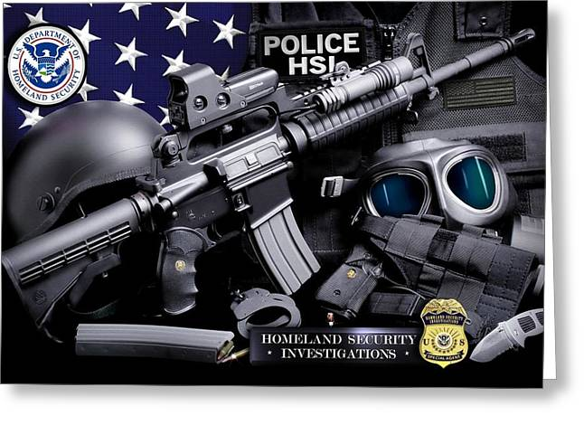 Law Enforcement Greeting Cards - Homeland Security 1 Greeting Card by Gary Yost