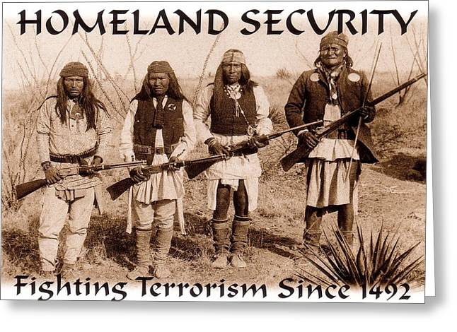Terrorism Paintings Greeting Cards - Homeland Security - 1886 Greeting Card by Pg Reproductions