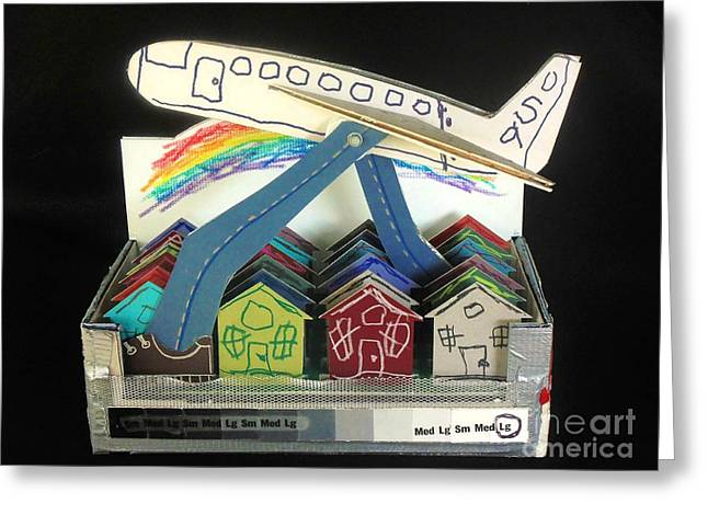 Terrorism Mixed Media Greeting Cards - Homeland Security Phase 1 Training Wheels Front View Greeting Card by Mack Galixtar