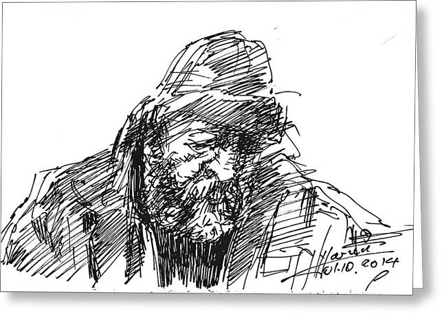 Homeless Greeting Card by Ylli Haruni