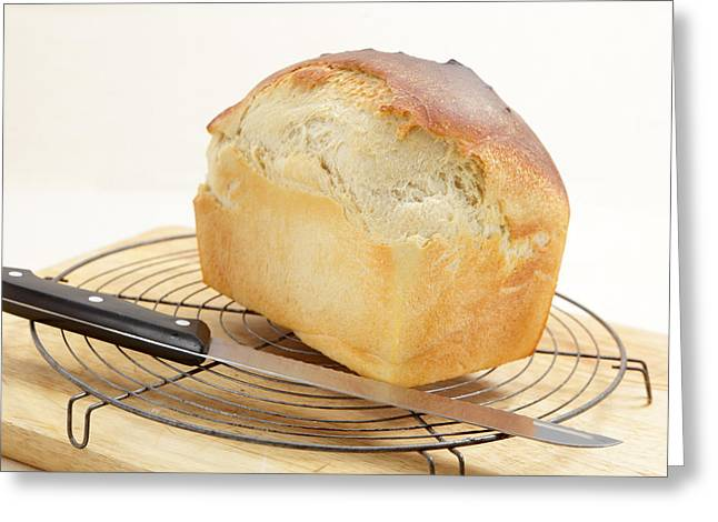 Bread Loaf Greeting Cards - Homemade bread  Greeting Card by Paul Cowan