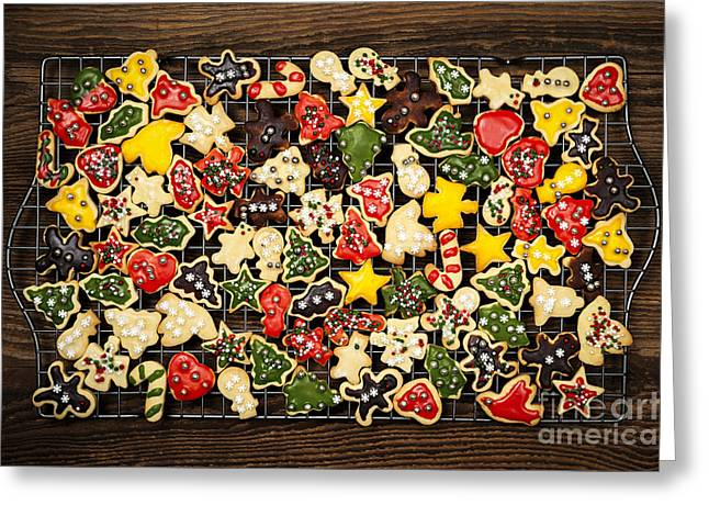 Various Greeting Cards - Homemade Christmas cookies Greeting Card by Elena Elisseeva