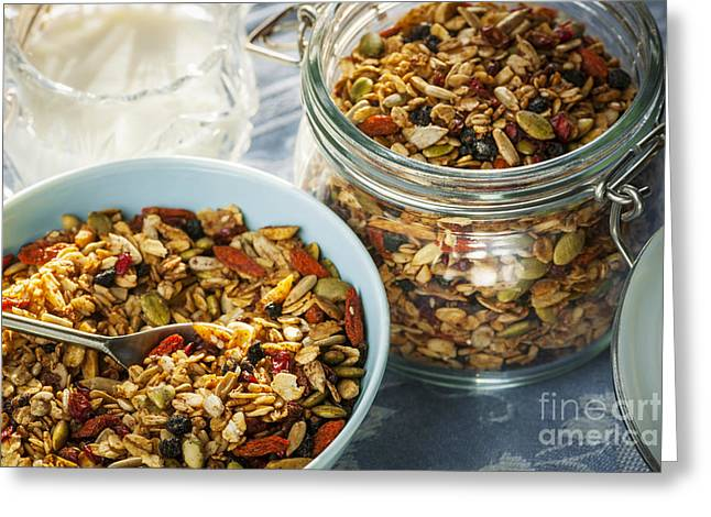 Homemade Granola Greeting Card by Elena Elisseeva
