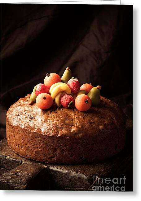 Sugared Almonds Greeting Cards - Homemade Rich Fruit Cake Greeting Card by Amanda And Christopher Elwell