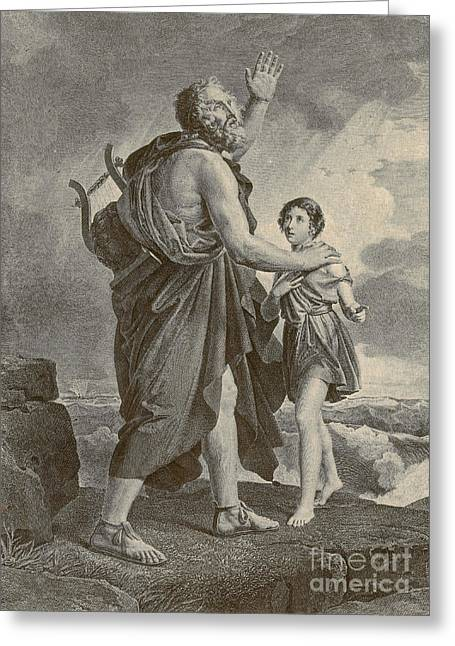 Children Literature Greeting Cards - Homer, Ancient Greek Epic Poet Greeting Card by Photo Researchers