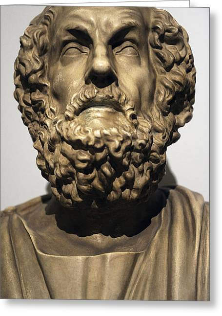 Greek Sculpture Greeting Cards - Homer  Greeting Card by Greek School