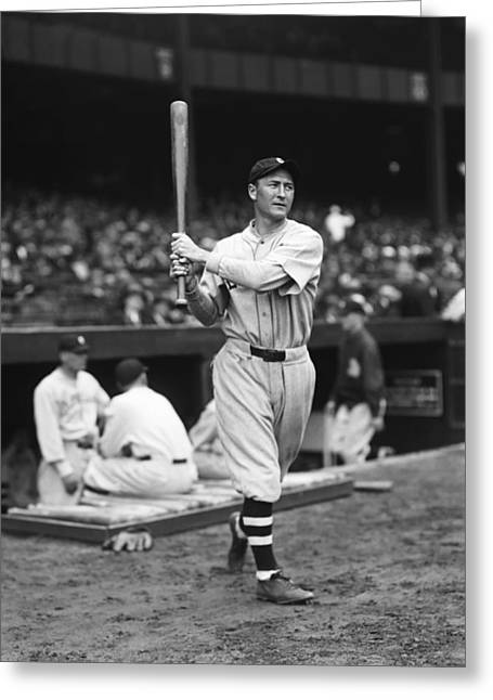 Cleveland Indians Stadium Greeting Cards - Homer W. Summa Greeting Card by Retro Images Archive