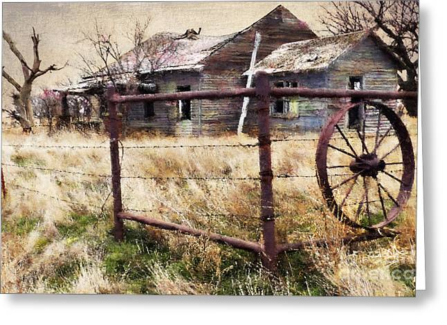 Homestead Greeting Card by Betty LaRue