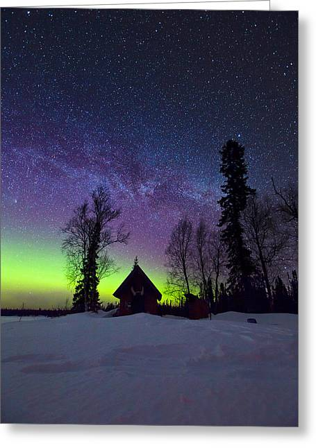 Milky Way Greeting Cards - Homestead Greeting Card by Ed Boudreau