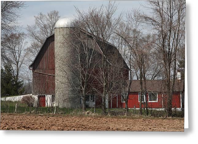 Homestead Farm Greeting Card by Nancy TeWinkel Lauren