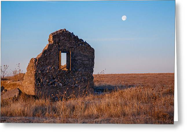 Moonrise Greeting Cards - Homestead Fixer Upper Greeting Card by Paul Moore