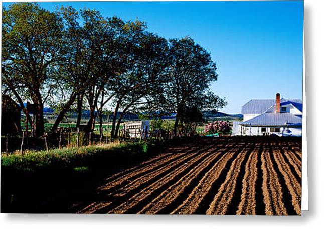 Plowing Field Greeting Cards - Homestead In Southern Utah, Usa Greeting Card by Panoramic Images