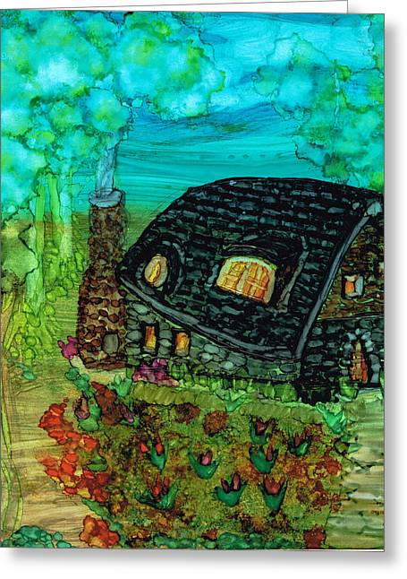 Prague Paintings Greeting Cards - Homestead Greeting Card by Kelly Dallas