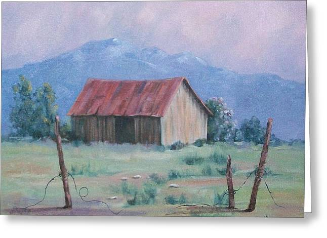 Homestead Greeting Card by Marcea Clive