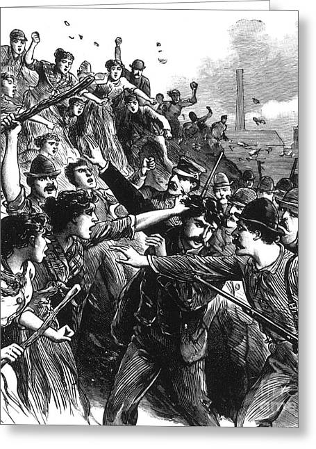 Ironworkers Greeting Cards - Homestead Strike, 1892 Greeting Card by Photo Researchers