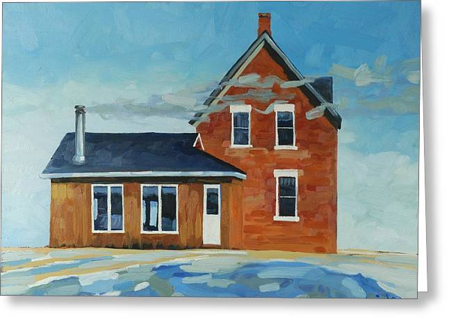 Algonquin Greeting Cards - Homestead -West Wind Greeting Card by Phil Chadwick