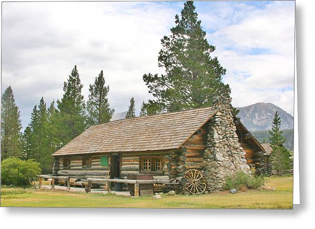 Log Cabins Greeting Cards - Homesteaded Greeting Card by Marilyn Diaz