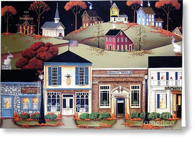 Hometown America Greeting Card by Catherine Holman