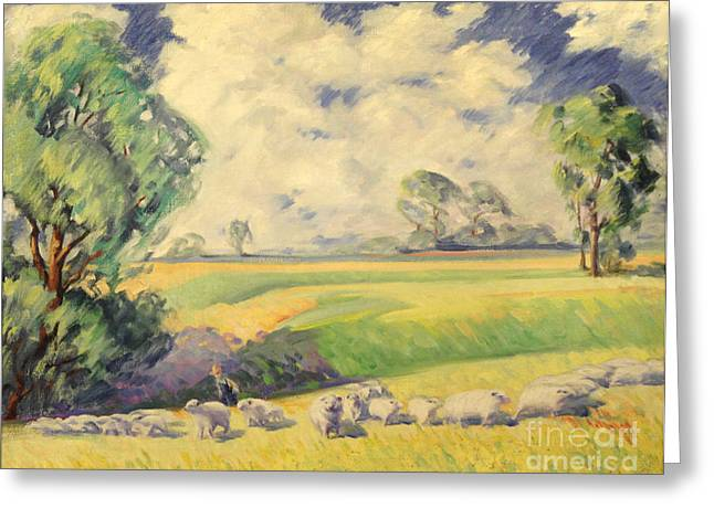 Herd Bound Greeting Cards - Homeward Bound 1936 Greeting Card by Art By Tolpo Collection