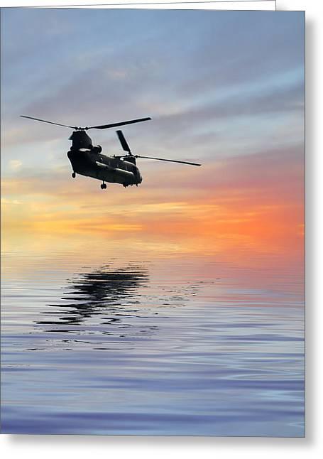 Chinook Greeting Cards - Homeward Bound 2 Greeting Card by Sharon Lisa Clarke