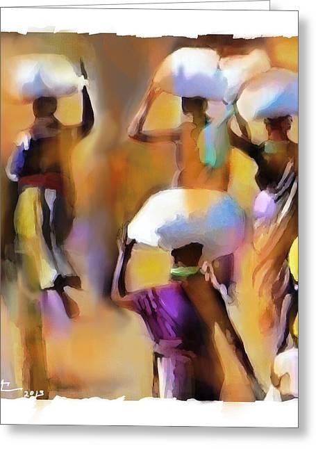 Haitian Digital Greeting Cards - Homeward Bound Greeting Card by Bob Salo