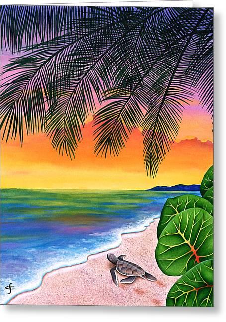 Homeward Bound Greeting Card by Carolyn Steele