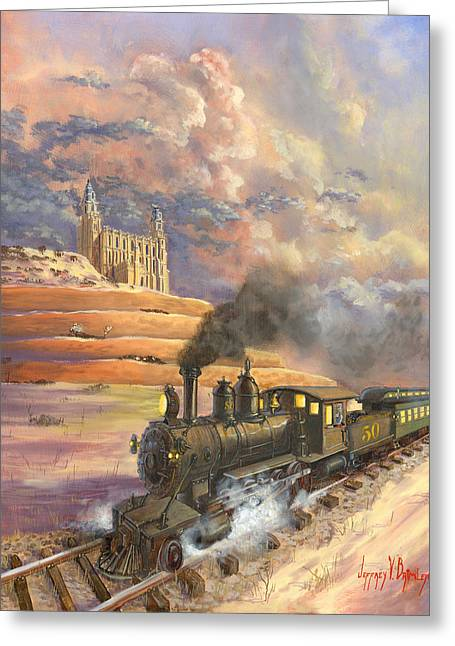 Express Paintings Greeting Cards - Homeward Bound Greeting Card by Jeff Brimley