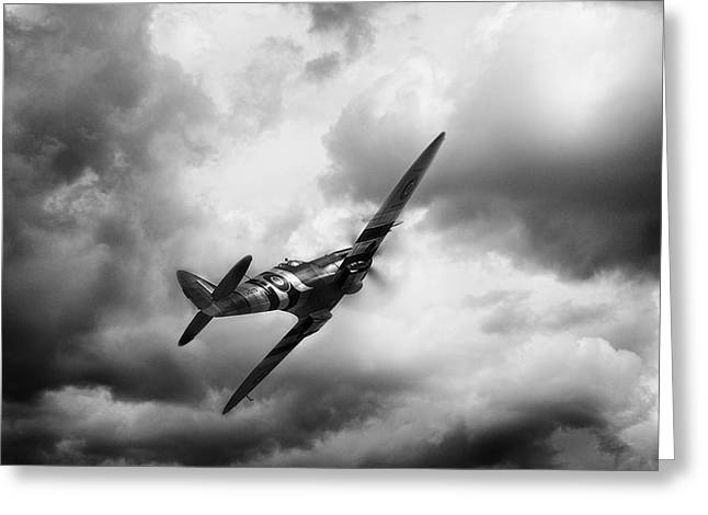 Spitfire Greeting Cards - Homeward Bound Greeting Card by Peter Chilelli