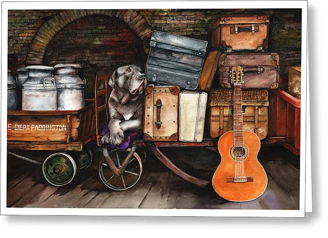 Packing Paintings Greeting Cards - Homeward Bound Greeting Card by Peter Williams