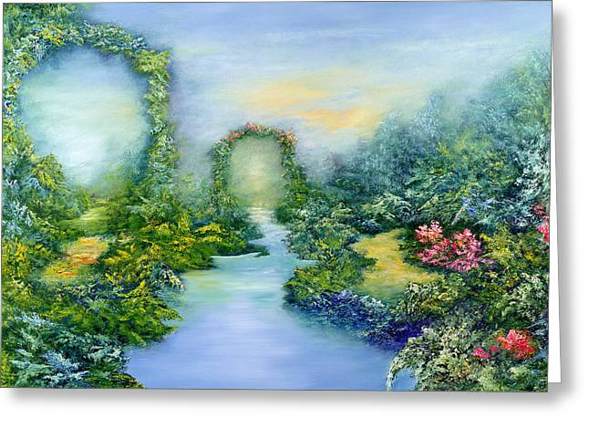 Park Scene Greeting Cards - Homeward Journey Greeting Card by Hannibal Mane