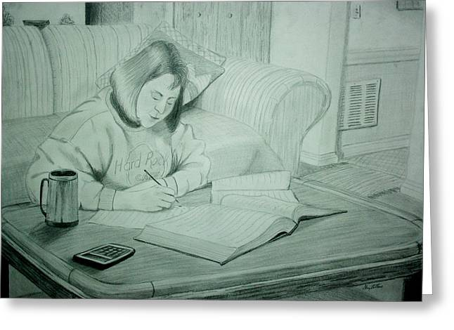 Photo Realism Greeting Cards - Homework Greeting Card by Stacy C Bottoms