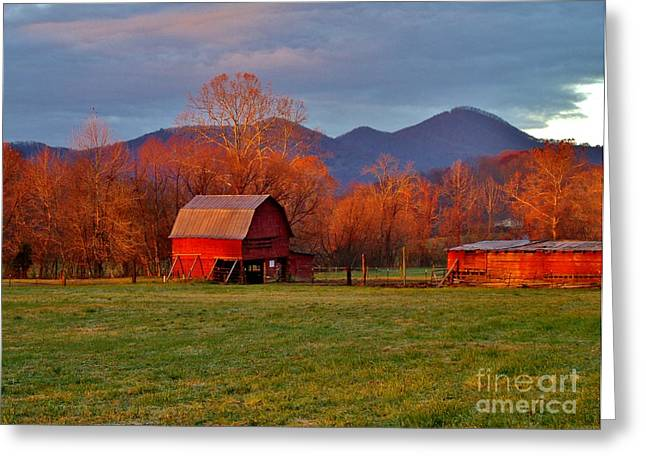 Hominy Valley Mornin' Greeting Card by Hominy Valley Photography