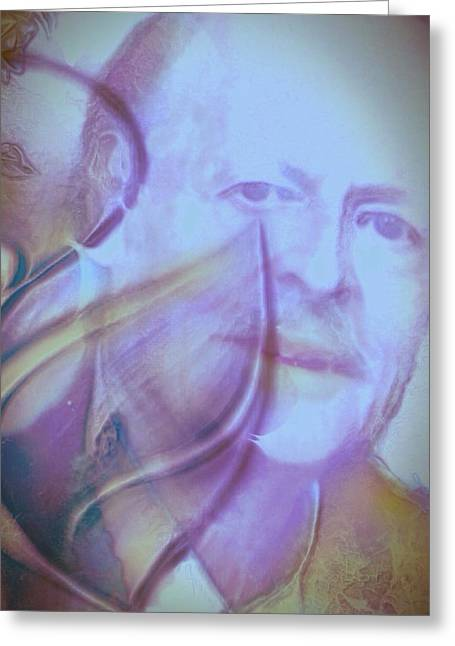 Hommage Greeting Cards - Hommage a mon pere Greeting Card by Pikotine Art