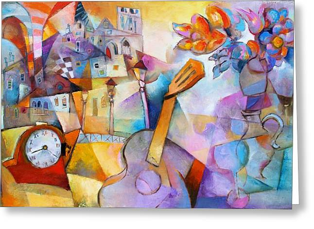 Hommage Greeting Cards - Hommage a Paco de Lucia Greeting Card by Miljenko Bengez