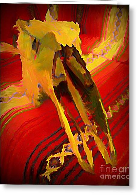 Hommage Greeting Cards - Hommage to South Western Americana Greeting Card by John Malone